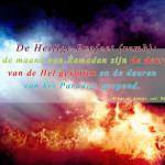 De deur van hel en paradijs in de maand ramadan