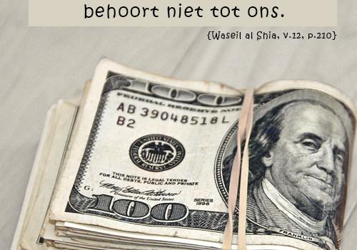 Bedriegen met geld en het resultaat daarvan!