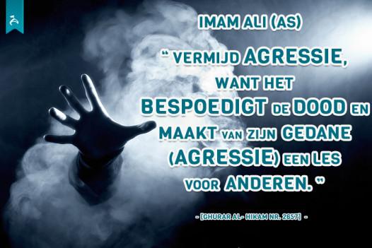 Vermijd agressie..